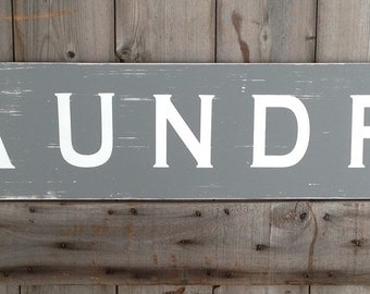 laundry sign, home decor laundry, distressed sign, laundry room decor, laundry sign decor, farmhouse, farmhouse decor, laundry, 48x10