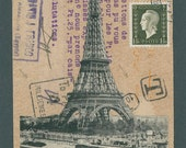 "Original Faux Mail. 'Paris and Egypt' approx. 3.75"" X 5.75"""
