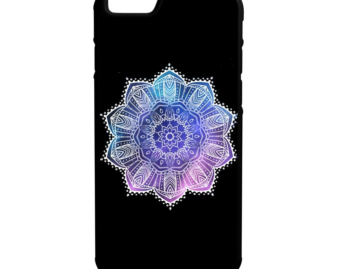 Purple Mandala Flower iPhone Galaxy Note HTC LG Hybrid Rubber Protective Case