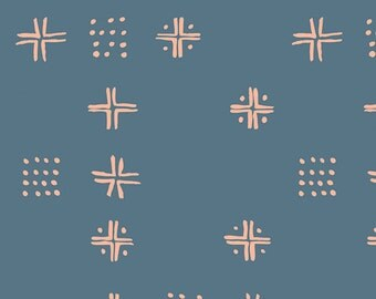 SALE Tapestry - Mudcloth Blue - Sharon Holland - Art Gallery Fabrics (TAP-82491)