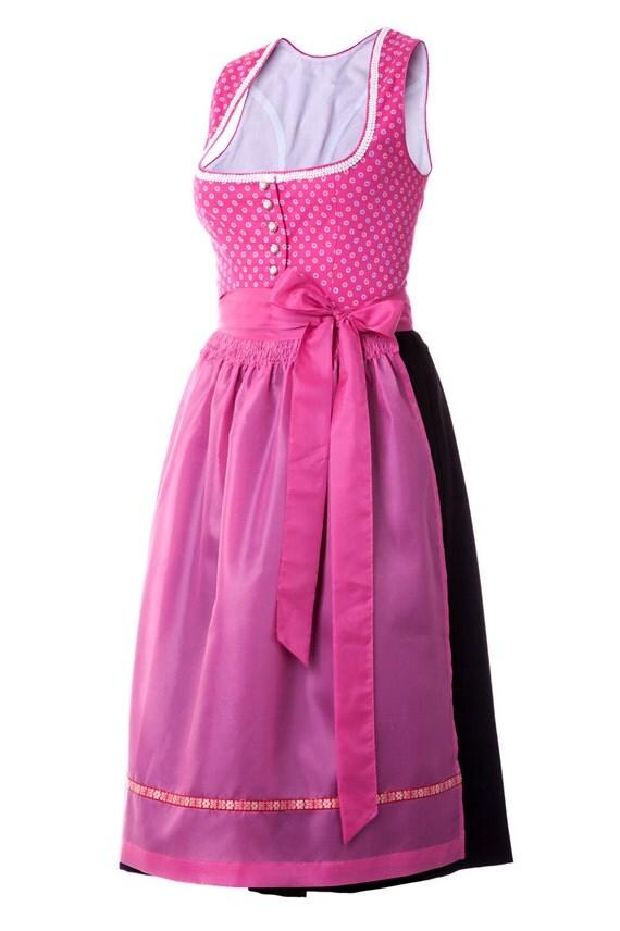 nanenda trachtenmode costumes midi dirndl pink or blue. Black Bedroom Furniture Sets. Home Design Ideas
