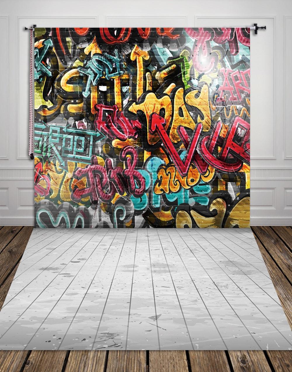 Graffiti wall vinyl -  Zoom