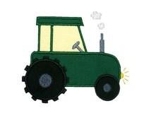 Farm Tractor Applique Embroidery Machine Design