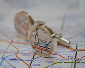 Personalised London Underground Cufflinks