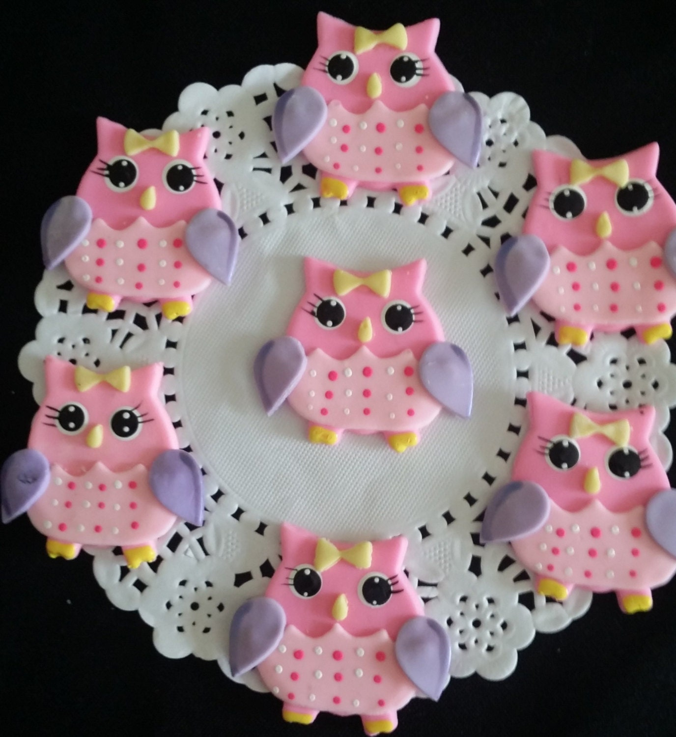 Owl Cupcakes For Baby Shower: Owl Baby Shower Owl Cake Topper Owls Cupcake Toppers Owl