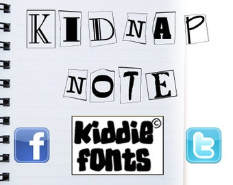Kidnap Note Commercial Font