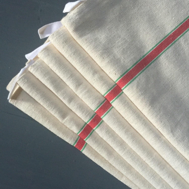 Vintage Towels: Unused French Vintage Tea Towels