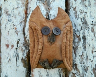 Primitive OWL_Rustic style_primitive halloween decor_primitive country decor_Halloween OWL Wall Hanging_rustic decor_halloween primitive