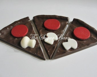 PIZZA SLICE CHOCOLATE*6 Count*Birthday Favors*Pizza Party*Sleepover Party Favor*Chocolate Pizza*Candy Pizza