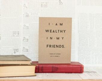 Wealthy in My Friends