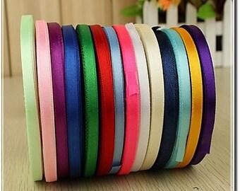 3/8 Personalized Satin Ribbon plain edge, favor accessories LOT of 15 ribbons