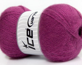 Angora Yarn Orchid Purple, Angora blend sock yarn, Sport weight, 546 yards per skein, Ice Yarns Angora # 35212