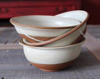 Bowl set of 3 organic looking bowls