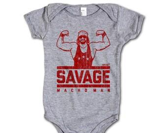 Randy Savage Pro Wrestling Officially Onesie 3M-24M Macho Man Savage R