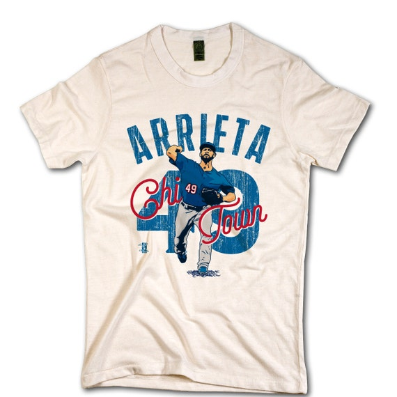 Jake arrieta officially licensed mlbpa chicago c t shirt for Custom tailored shirts chicago