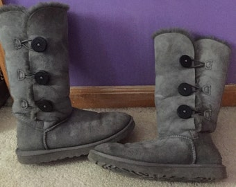 Gray Tall Uggs 8