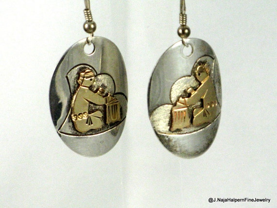 Native american sterling earrings indian jewelry taos for Turquoise jewelry taos new mexico