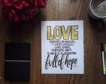 Love...Full of Hope (Maya Angelou Quote)