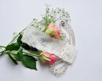 Camille Ivory Stretch Wedding Garter