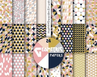 geometric digital papet triangles pattern art design blog card making invitation scrapbboking printable geometrical collage sheet paper pack