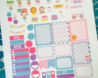 Weekly Planner Sticker Set Circus Time