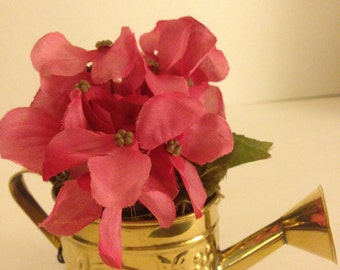 Small Watering Can Floral Arrangement Pink #105