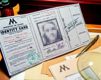 Ministry of Magic Identification Card Package