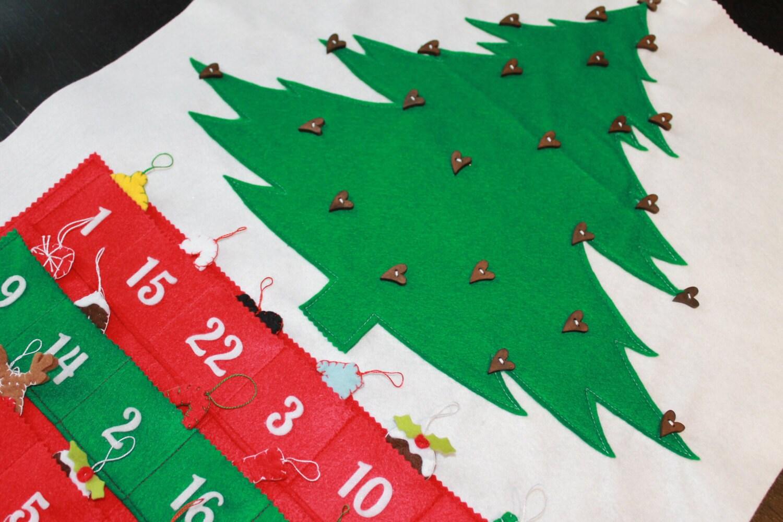 SALE Christmas Advent Calendar Felt Calendar Christmas