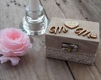 Ring box MoCCA - ring box/wedding/rings/ring bearer pillow