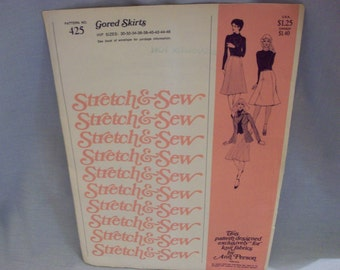 Vintage Stretch and Sew Pattern #425 Gored Skirts