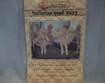 Patch Press Vintage Ballerina/Good Fairy Pattern, Patterns, Doll Patterns, Ballerina Pattern, Fairy Pattern