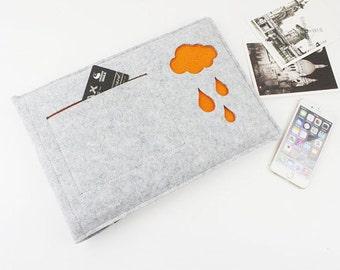 felt Macbook Air 13 sleeve, macbook pro sleeve, 13 inch Macbook sleeve, Macbook sleeve, macbook air case, Laptop sleeve, Laptop cover 402