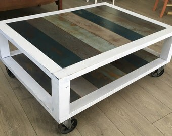 Industrial/Modern Reclaimed Wood Coffee Table