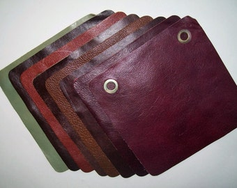 leather 8x8 8pk assorted colors