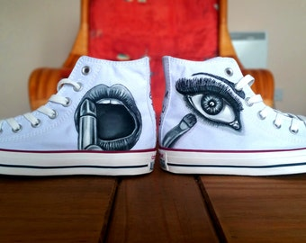 Custom Shoes (Make up themed - Request any design)