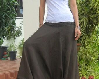 Smocked Harem Pants * Sarouel * Harem Baggy * Harem Trousers * Aladdin Style * Yoga Pants * Boho * Travel * Gypsy *Hippie*Jumpsuit* HS-choco