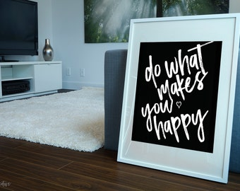 Inspirational Quote Poster Print Home Decor - Printable