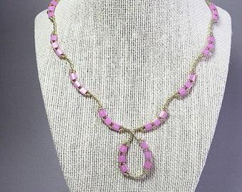 Shop Sale Beautiful tila beaded necklace, tila necklace, beadwork necklace, seed necklace, pink necklace