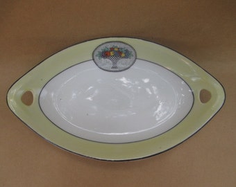 Z. S. & Co. Bavaria Small Oval Dish with Fruit Basket