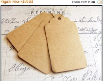 SALE 25 Paper Tags, Brown Hang Tags, Wedding Favor Tags