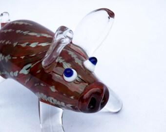 Red Swirly Pig Pipe