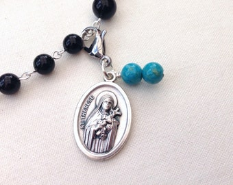 St Therese Rosary Marker // Rosary Place Keeper // Catholic gift