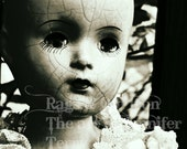 Antique doll photograph, old doll, macabre, unusual, creepy, elegant, horror, antique toy, curiosity, haunted