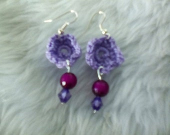 Flower Crocheted Earrings