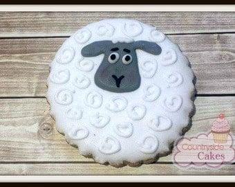 "Sheep Lamb Decorated Sugar Cookies 3""-1 dozen"