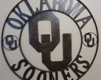 Oklahoma Sooners wall decor