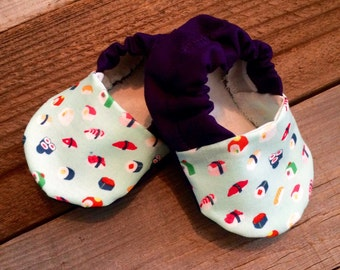 Sushi baby booties, sushi baby shoes,