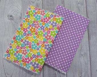 Baby Girl Burp Cloths, Flannel Burp Cloths, Chenille Burp Cloths, Choose 1, 2, 3 or 4