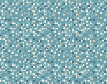Genealogy Azul, Legacy by Angela Walters for Art Gallery Fabrics 6124