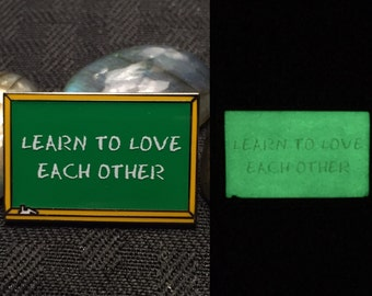 Learn To Love Each Other Pin